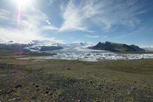 One of the many glaciers we saw