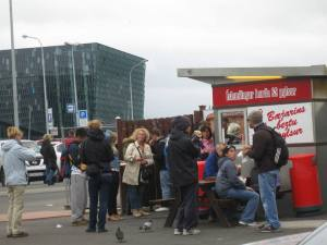 The most famous restaurant in Reykjavik - Baejarins Beztu Pylsur - it's a hot dog stand