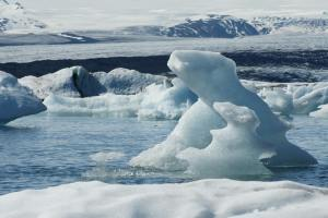 At the glacier lagoon